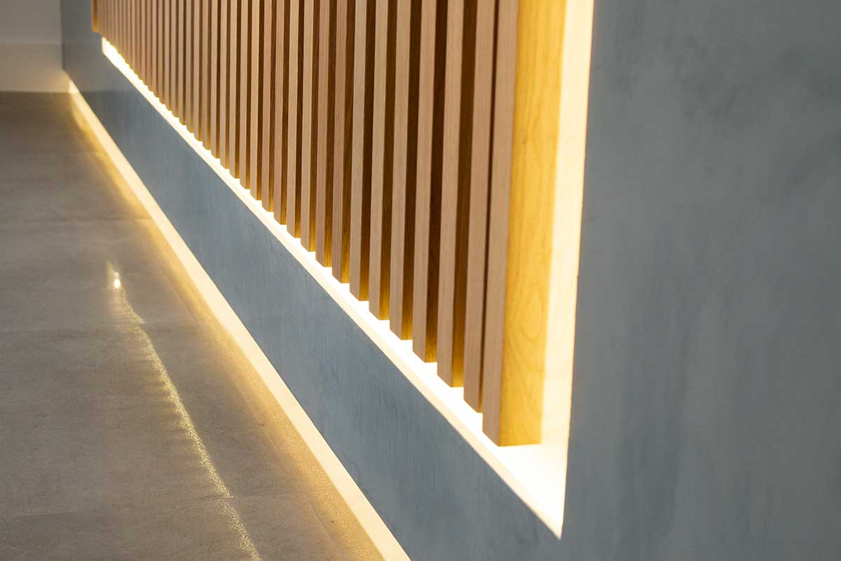 Reforma Colexio Alborada - Detalles luz