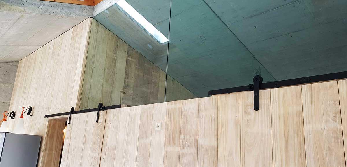 Vivienda Aldán - Interior detalle cristalera
